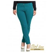 Елегантен дамски панталон за есента в зелен цвят