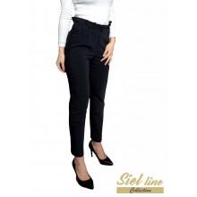 Дамски панталон с къдра на талията