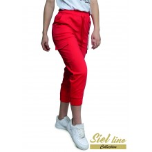 Спортен панталон 7/8 в червен цвят