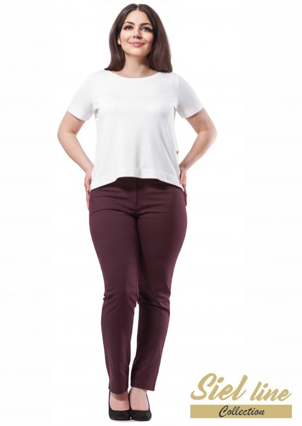 Маски панталон в цвят бордо