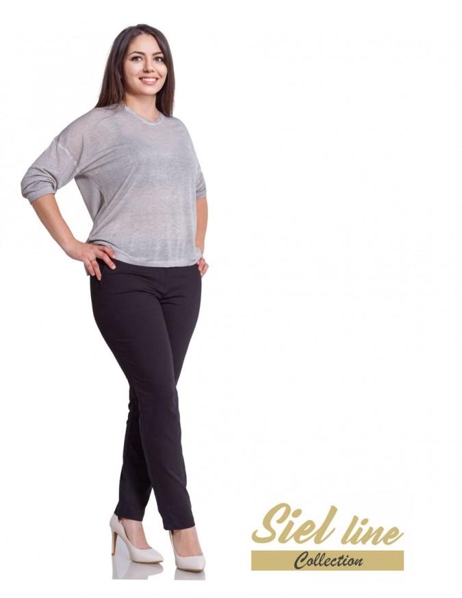 Елегантен дамски панталон за есента в черен цвят