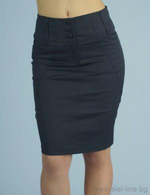 Вталена дамска пола с широк колан