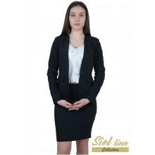 Вталена дамска полa в черен цвят