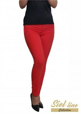 Дамски панталон  в цвят диня
