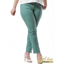 Макси панталон в зелен цвят